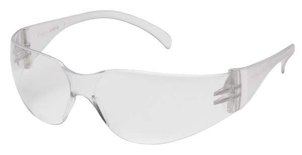 Intruder Safety Glasses Clear Frame And Clear Scratch-Resistant Lens-Clear-12 Count S4110S-12