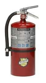 "Buckeye 11340 ABC Multipurpose Dry Chemical Hand Held Fire Extinguisher with Aluminum Valve and Wall Hook, 10 lbs Agent Capacity, 5-1/8"" Diameter x 7-3/4"" Width x 21"" Height FE-10"