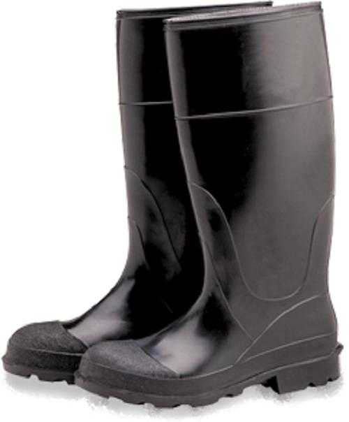 """Industrial PVC Rubber Boots, Plain Toe 16"""" Size 8 PB16-8"""
