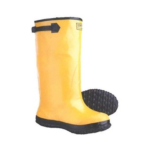 "Yellow Rubber Slush Boots 17"" , Size 7 SLB-7"