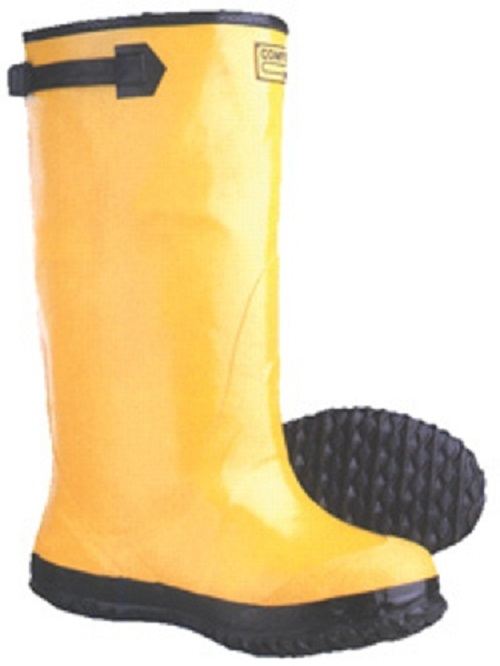 "Yellow Rubber Slush Boots 17"" SLB"